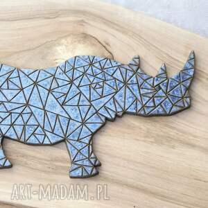 wyraziste ceramika zwierzęta dekor ceramiczny nosorożec
