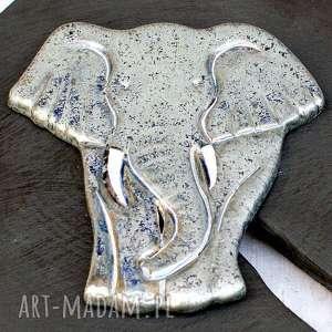 słoń ceramika szare dekor na ścianę