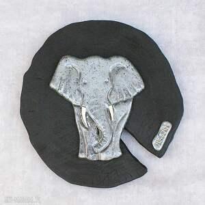 efektowne ceramika słoń dekor na ścianę
