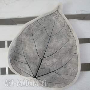 unikalne ceramika patera dekoracyjny talerz liść