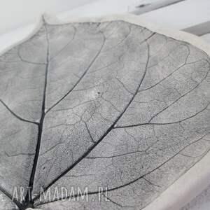 beżowe ceramika roślinna dekoracyjny talerz liść