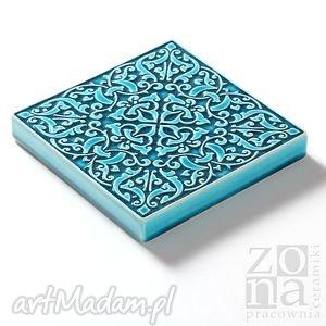 niebanalne ceramika ceramiczne dekory cztery ornamenty turkusowe