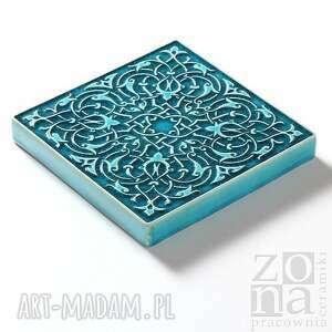 ceramiczne ceramika dekory cztery ornamenty turkusowe