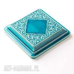 pracowniazona ceramika: dekory XL cztery turkusowe kafle