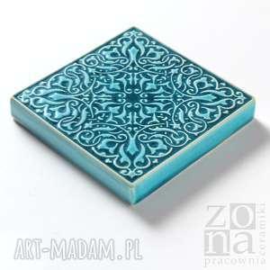 pracowniazona ceramika: Dekory cztery ornamenty turkusowe ornament