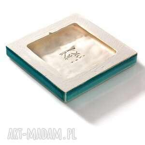 kafle ceramika dekory cztery ornamenty turkusowe