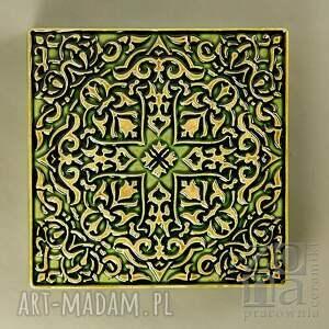 ceramika dekory grave zielone do zawieszenia