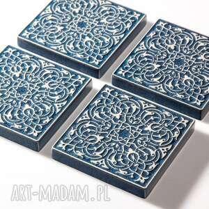 niepowtarzalne ceramika dekory largo szaroniebieskie