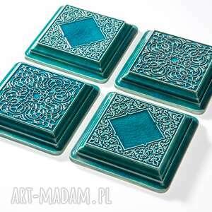 urokliwe ceramika dekory turkusowe z ramą