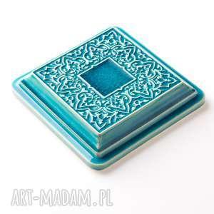 ceramika kafle dekory xl cztery turkusowe