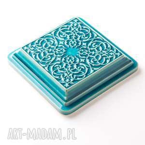 hand made ceramika kafle dekory xl cztery turkusowe