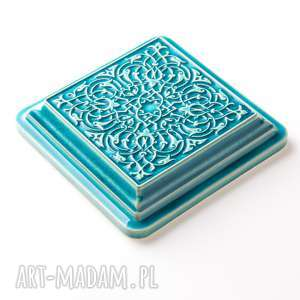 kafle ceramika dekory xl cztery turkusowe