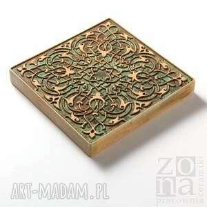 ceramika dekory zielono brązowo beżowe