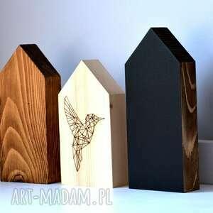 hand-made ceramika domki 3 drewniane