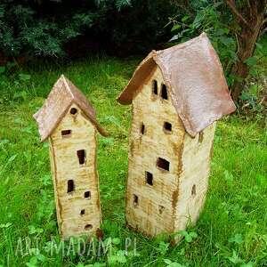 ceramika dom domy - świeczniki