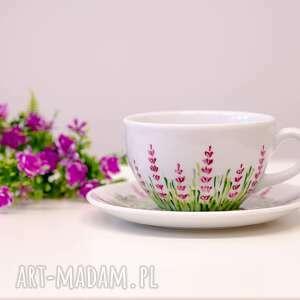 ceramika do kawy duża filiżanka motyw