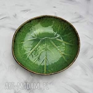 modne ceramika duża misa liść