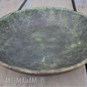 zielone ceramika misa duża stary las