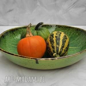 ceramika zielone duża misa liść