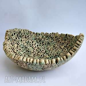 misa ceramika turkusowe fantazyjna
