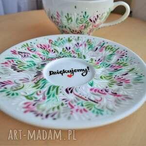 intrygujące ceramika dla mamy filiżanka ręcznie malowana