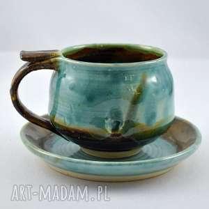 ceramika filiżanka z talerzykiem jt3