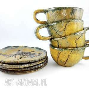 nietuzinkowe ceramika filiżanka filiżanki 4 szt