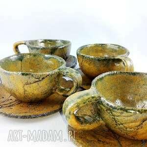 nietuzinkowe ceramika kawa filiżanki 4 szt