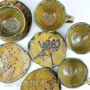 filiżanka ceramika zielone filiżanki 4 szt