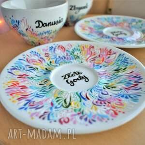 ceramika dla dwojga filiżanki dla pary prezent ślubny