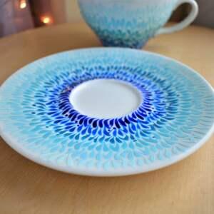 unikatowe ceramika dla pary filiżanki dla prezent ślubny