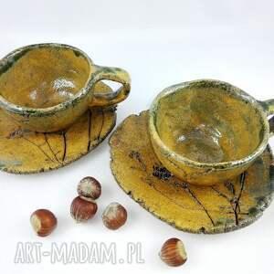 handmade filiżanka filiżanki 2 szt