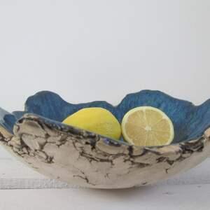 miska-ceramiczna ceramika niebieskie granatowa miska jak skała
