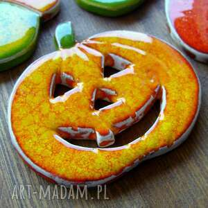 pomarańczowe ceramika liście jesień, złota