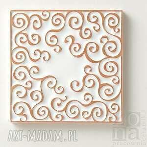 płytki ceramika kafle białe arabeski, zestaw ii