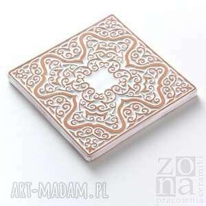 ceramika płytki kafle białe arabeski, zestaw ii