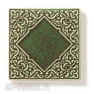 frapujące ceramika kafle ciemno zielone, dwanaście