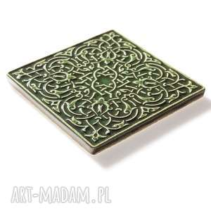 frapujące ceramika dekory kafle ciemno zielone, dwanaście