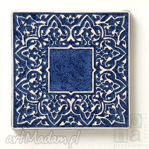 gustowne ceramika kafle ciemnoniebieskie arabeski