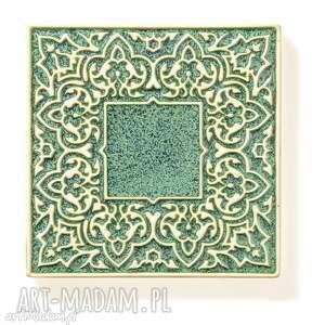 unikalne ceramika dekory kafle dwanaście ornamentów zielone