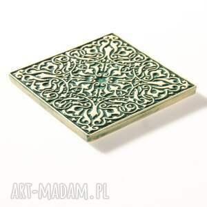 kafle ceramika dwanaście ornamentów zielone