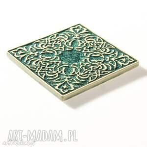 unikalne ceramika kafle dwanaście ornamentów zielone