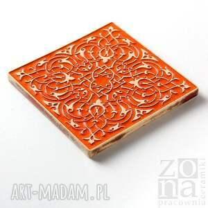 ceramika płyrki kafle largo pomarańczowe