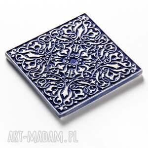 hand made ceramika dekory kafle mix ciemnoniebieski, 25 sztuk