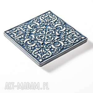 niebieskie ceramika dekory kafle ornamentowe mix trzech