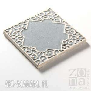 nietuzinkowe ceramika kafle szare arabeski