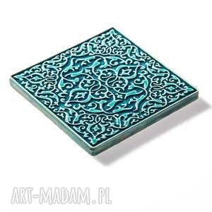 ceramika dekory kafle turkusowe arabeski zestaw i