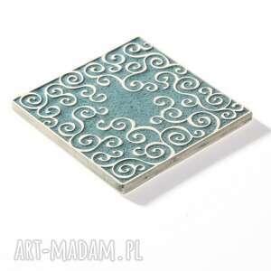 ceramika płytki kafle zestaw szaro turkusowy