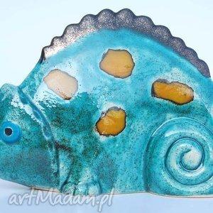 oryginalne ceramika figurki kameleon