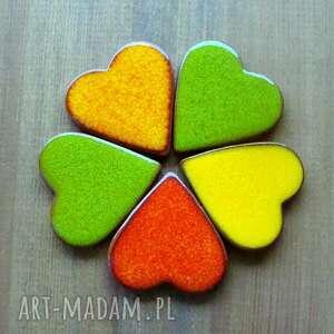 ręcznie wykonane ceramika serduszko kolorowe serduszka